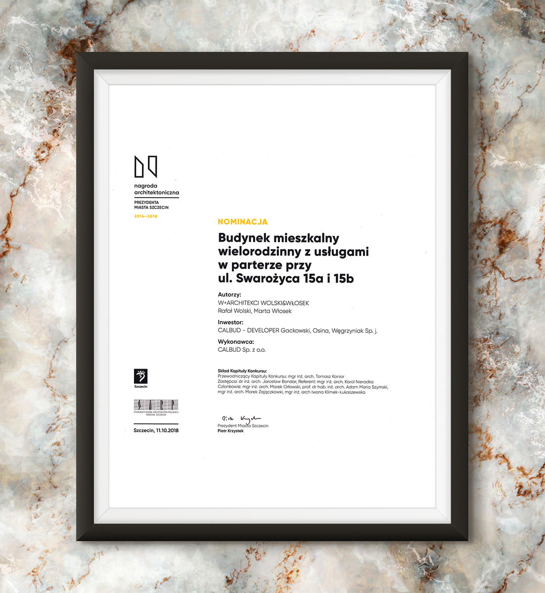 Nagroda Architektoniczna Prezydenta Miasta Szczecin 2014-2018 - Kamienica Vossa